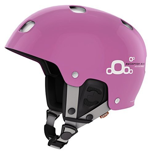 スノーボードPOC Receptor Bug Adjustable 2.0 Ski Helmet, Actinium ピンク, X-Small/Small - 51-54