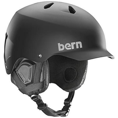 ウィンタースポーツBERN - Winter Watts EPS Snow Helmet, Matte 黒 with 黒 Liner, MediumSM05E17MBK2 Medium