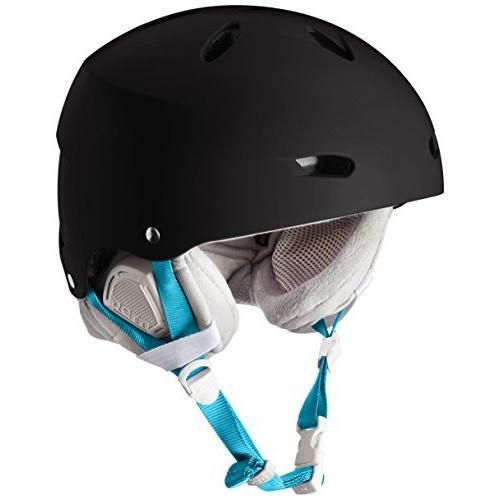 ウィンタースポーツBern Brighton Snowboard Helmet Womens (Satin 黒, MD/LG (55.5-59 CM CirSW02EMBLK11 M-L