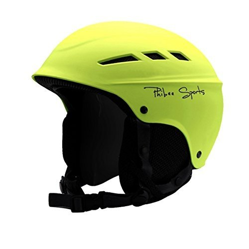 ウィンタースポーツPHIBEE Unisex Snow Sport Lightweight EPS Outdoor Ski Helmet 黄 MMedium