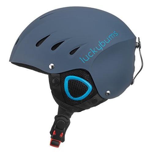ウィンタースポーツLucky Bums Snow Sport Helmet, Matte Steel/青, LargeSnow Sport Large