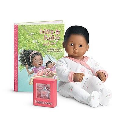 アメリカンガールドールAmerican Girl - Bitty Baby Doll Medium Skin Textu赤 褐色 Hair 褐色 Eyes BB8