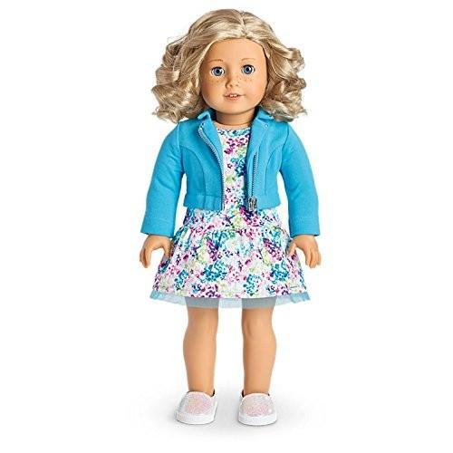 アメリカンガールドールAmerican Girl - 2017 Truly Me Doll: Light Skin with Freckles, Curly Blond Hair, 青 Eyes DN56
