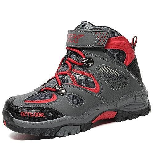 並行輸入品Kids Hiking Shoes Walking Snow Boots Antiskid Steel Buckle Sole Winter Outdoor Climbi7 Big Kid