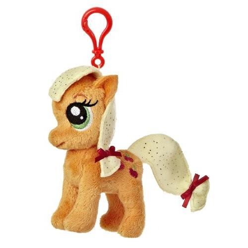 ハズブロAurora World My Little Pony Clip-On Applejack Pony Plush, 4.5
