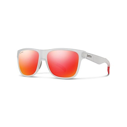 スポーツSmith Optics Lowdown Chromapop Sunglasses, Matte Crystal 赤, Sun 赤 MirrorLowdown N/A