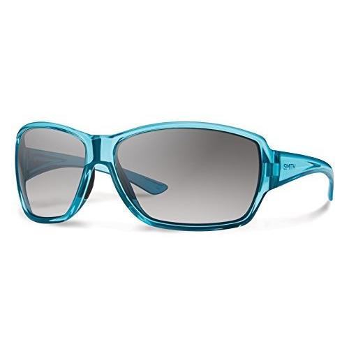 スミスSmith Optics Women's Pace Sunglasses, Crystal Opal Frame, Gray Gradient Carbonic TLT Lenses