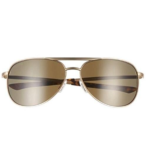 スミスSmith Serpico Slim 2 ChromaPop Polarized Sunglasses, ゴールド, 褐色 Lens