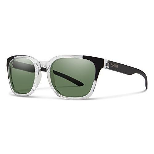 スミスSmith Optics Founder Chromapop Polarized Sunglasses, Crystal 黒 Block, Gray 緑