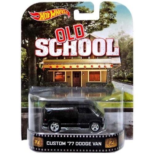 ホットウィールHot Wheels Old School Custom '77 Dodge Van Die-Cast Retro Entertainment Series