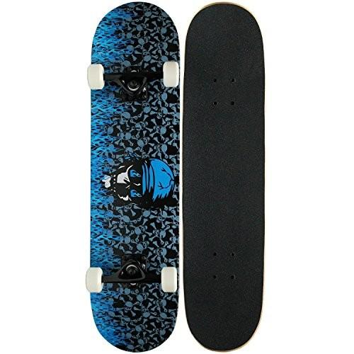 スケボーKPC Pro Skateboard Complete, 青 FlameKPC-303