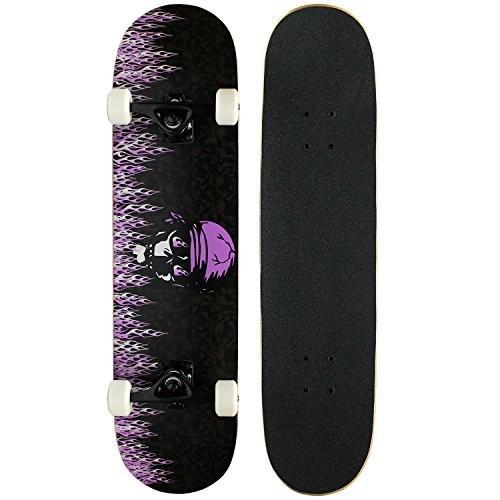 スケボーKrown Intro Skateboard, 紫の FlameKPC-308