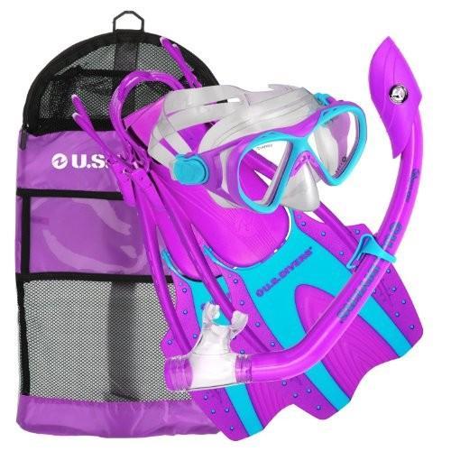 マリンスポーツU.S. Divers Youth Buzz Jr. Snorkeling Set Purple Small/Medium241705 Small (1-3)