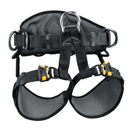 並行輸入品PETZL - AVAO SIT, Seat Harness for Work Suspension, Size 2, Black/YellowC79AAA 2 32
