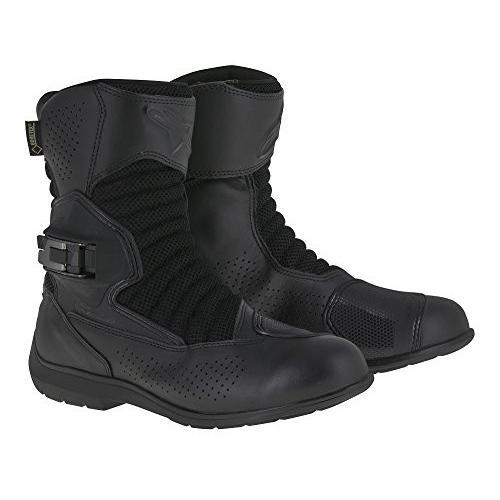 42 Black//Black Alpinestars Mens SMX-6 V2 Gore-Tex Street Motorcycle Boot