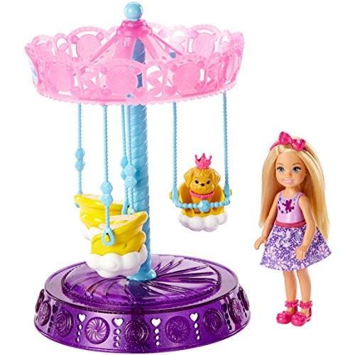 バービーBarbie Dreamtopia Chelsea Doll and Carousel Playset