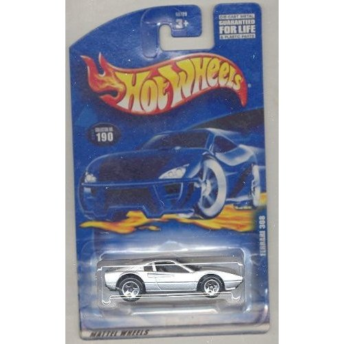 マテルHot Wheels 2001-190 銀 Ferrari 308 1:64 Scale