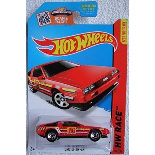 マテルHot Wheels, 2015 HW Race, DMC Delorean [赤] 184/250