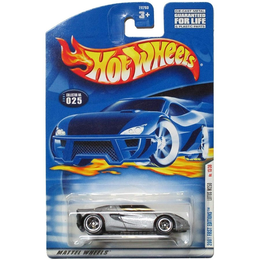 マテルHot Wheels 2001-025 First Editions Lotus M250 Project 銀 1:64 Scale
