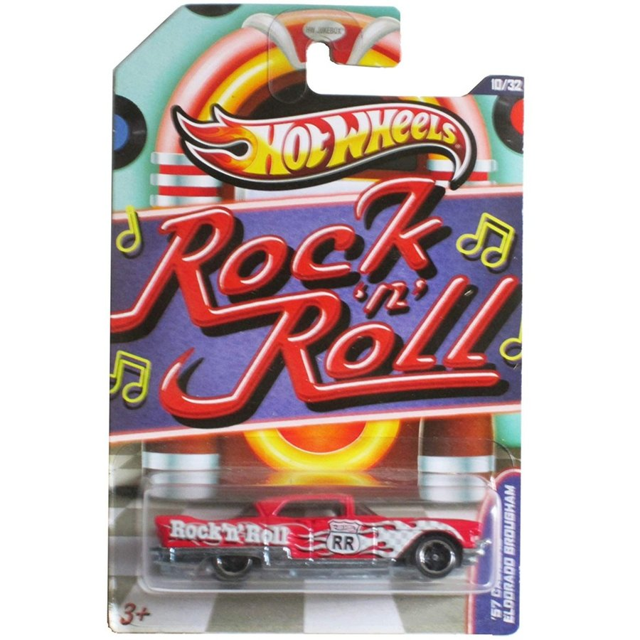 ホットウィールHot Wheels Jukebox Rock N' Roll '57 Cadillac Eldorado Brougham 赤 #10/32