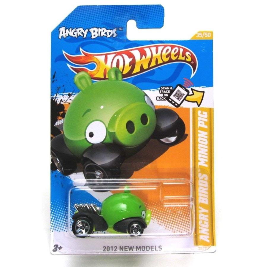 ホットウィールANGRY BIRDS MINION 緑 PIG Hot Wheels 2012 New Models Series #35/50 緑 Piggy 1:64 Scale Collectible Die