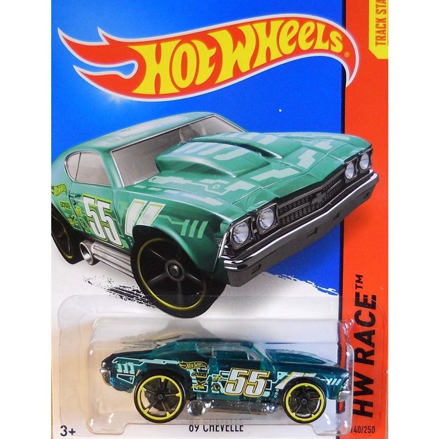 マテルHot Wheels, 2015 HW Race, '69 Chevelle [Translucent 緑] Die-Cast Vehicle #140/250