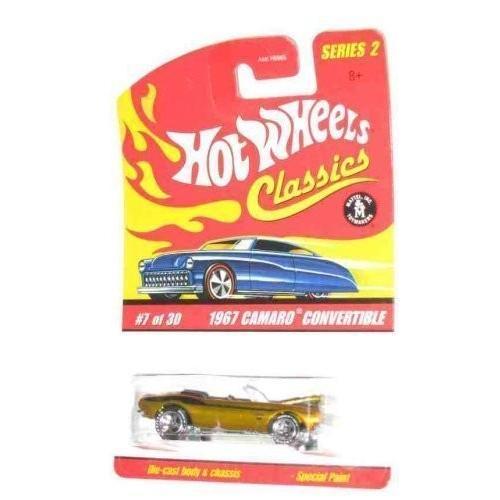 マテルClassics Series 2 #7 1967 Camaro Convertible Spectraflame ゴールド 1:64 Scale Collectible Die