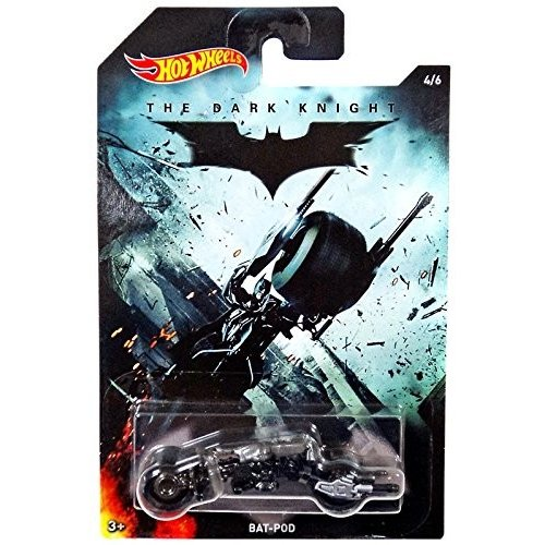 マテルHot Wheels 2015 Batman The Dark Knight Movie Bat-Pod 4/61:64 Scale