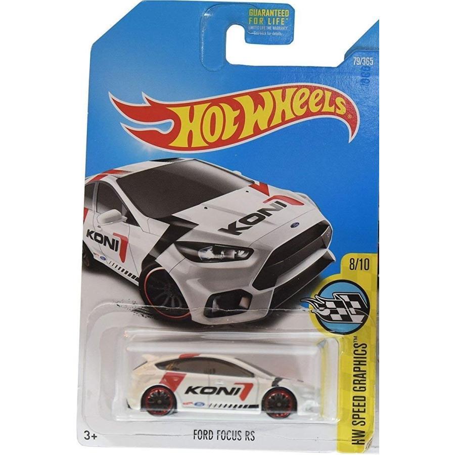 マテルHot Wheels 2017 HW Speed Graphics Ford Focus RS 79/365, 白い