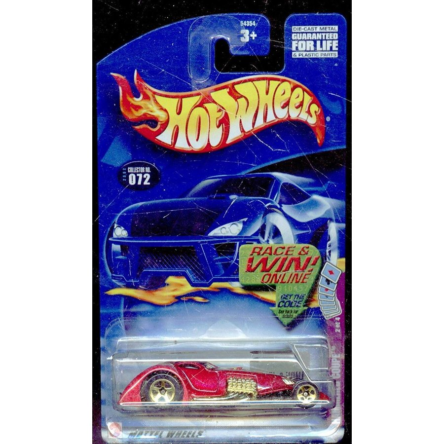 マテルHot Wheels 2002-072 Hamme赤 Coupe 2 of 4 Race and Win Card 1:64 Scale