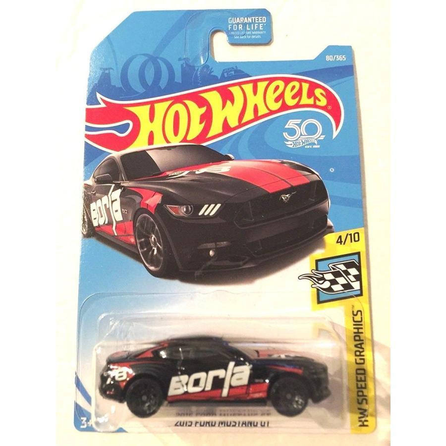 ホットウィールHot Wheels 2018 50th Anniversary 2015 Ford Mustang GT 80/365, 黒