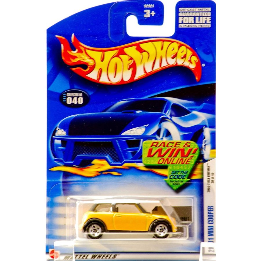 マテル2002 First Editions -#28 2001 Mini Cooper 5-spoke Wheels #2002-40 Collectible Collector Car