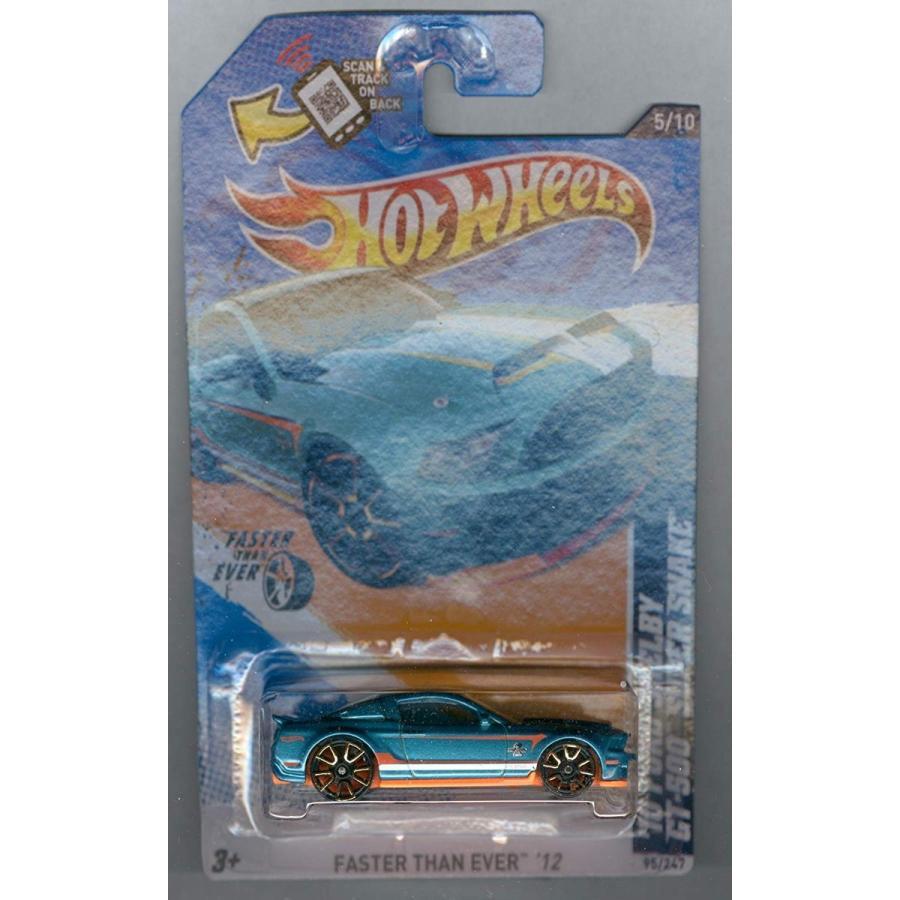 ホットウィールHot Wheels 2012-095 Faster Than Ever 5/10 '10 Ford Shelby GT-500 Super Snake 青-緑 1:64 Scale SCAN & TRA