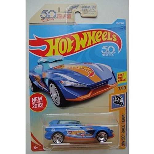 マテルHot Wheels HW 50 RACE TEAM 7/10, 青 FAST MASTER 260/365