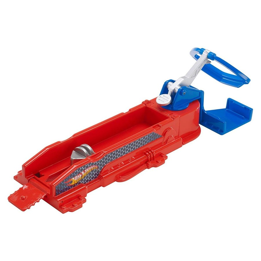 マテルHot Wheels Track Builder Sideshot Launcher Stunt Pack