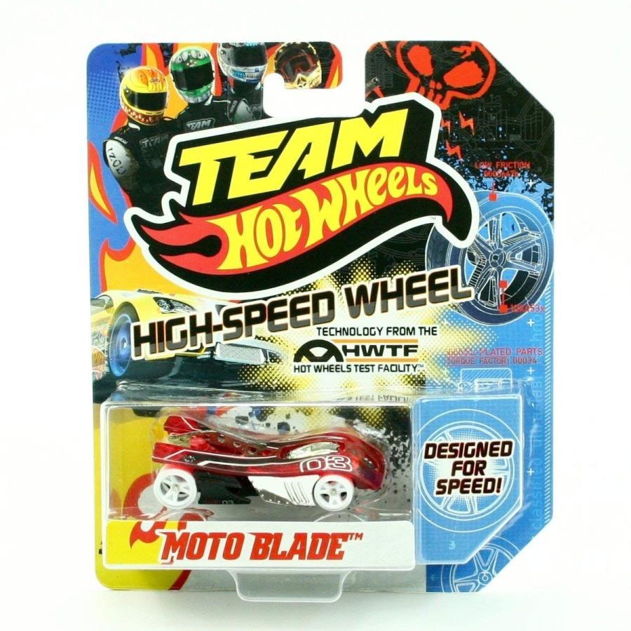 マテルHot Wheels MOTO BLADE (赤 & 白い) HIGH-SPEED WHEELS Team 2011 Designed For Speed Vehicle1:64 Scale