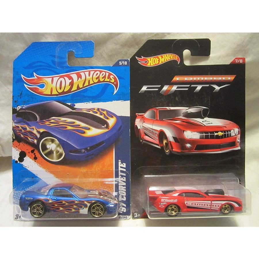 ホットウィールHot Wheels Heat Fleet '97 Corvette & '10 Pro Stock Camaro Die Cast 1/64 Scale 2 Car Bundle!