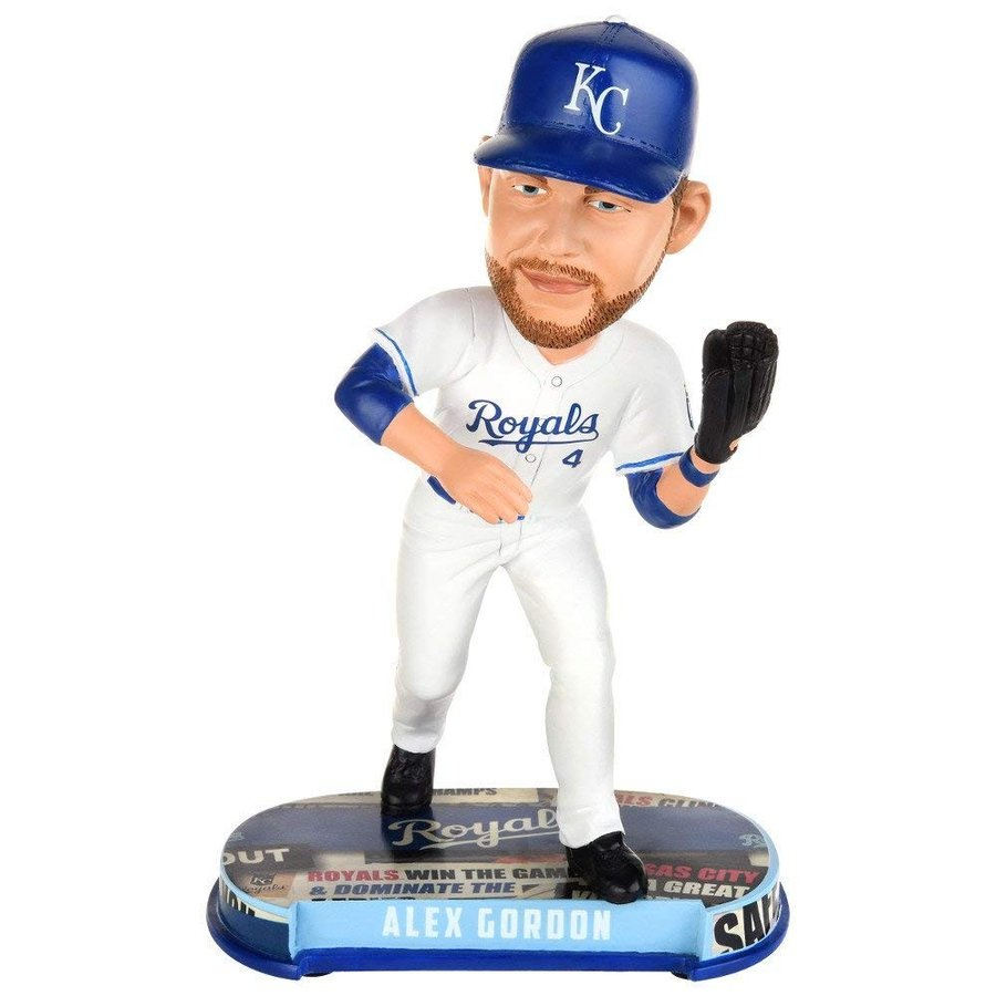 バブルヘッドKansas City Royals Gordon A. #4 Headline BobbleOne Size