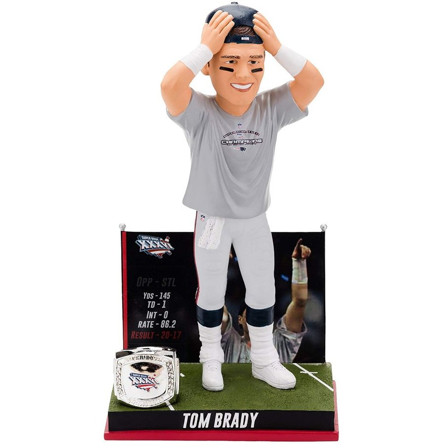 ボブルヘッドTOM BRADY SPECIAL EDITION BOBBLEHEAD FIRST SUPERBOWL VICTORY