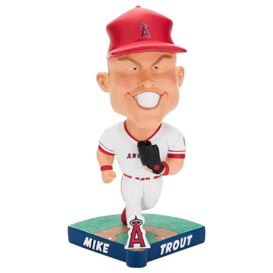 ボブルヘッドForever Collectibles MLB Los Angeles Angels Mens Los Angeles Angels Bobble Caricature Style Mike Trout Designlos