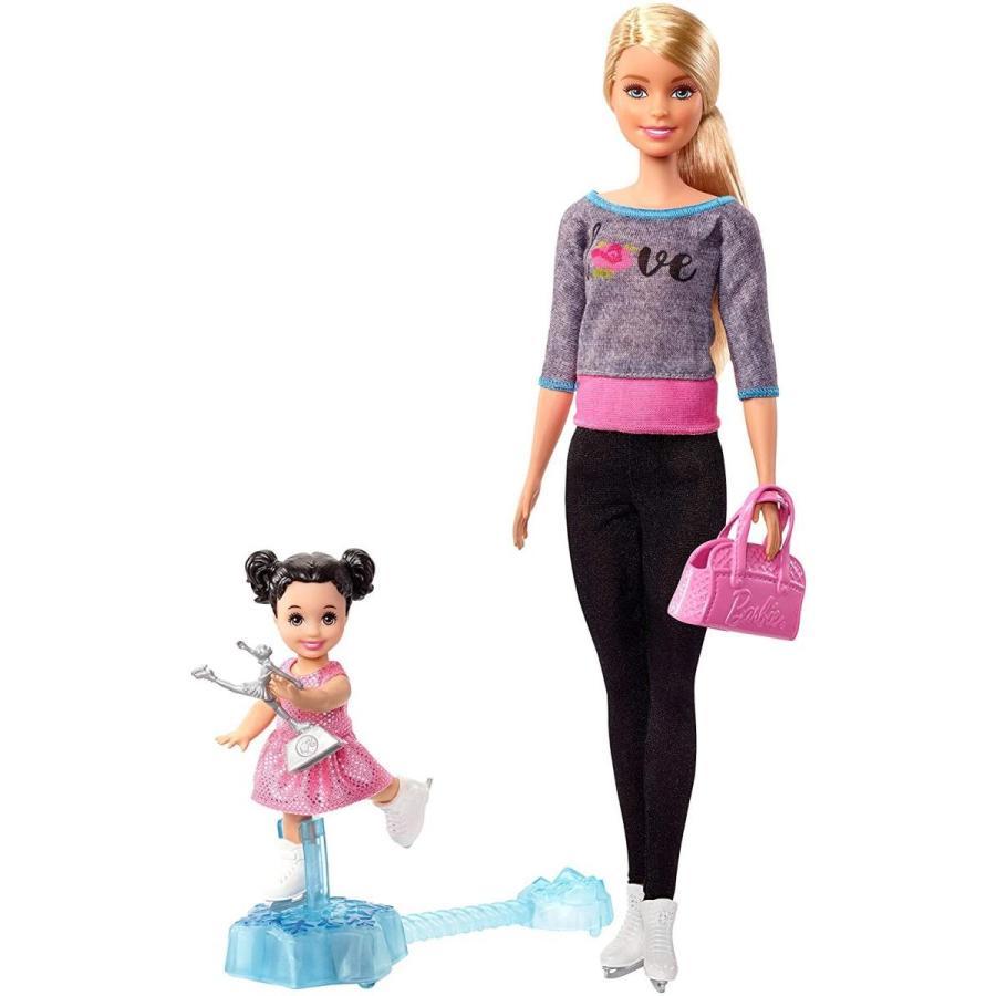 バービーBarbie Ice Skating Coach Doll & Playset