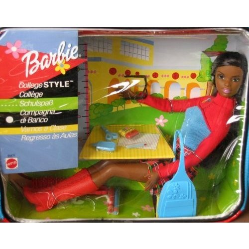 バービーBarbie College Style Doll AA w Vinyl Carry Case (2001
