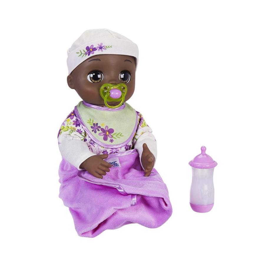 ベビーアライブBaby Alive Real As Can Be Baby: Realistic African American Doll, 80+ Lifelike Expressions, Movements & Real B