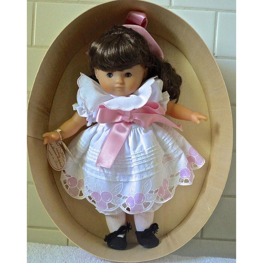 コロールVintage Corolle 1987 Catherine Refabert Doll in 白い Dress in Wooden Box