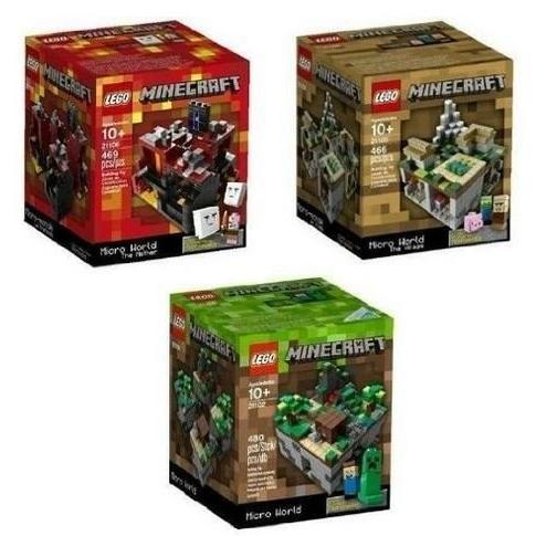 マインクラフトMinecraft Lego Collectible 3 Piece Set - (The Original) Minecraft 21102, the Vi