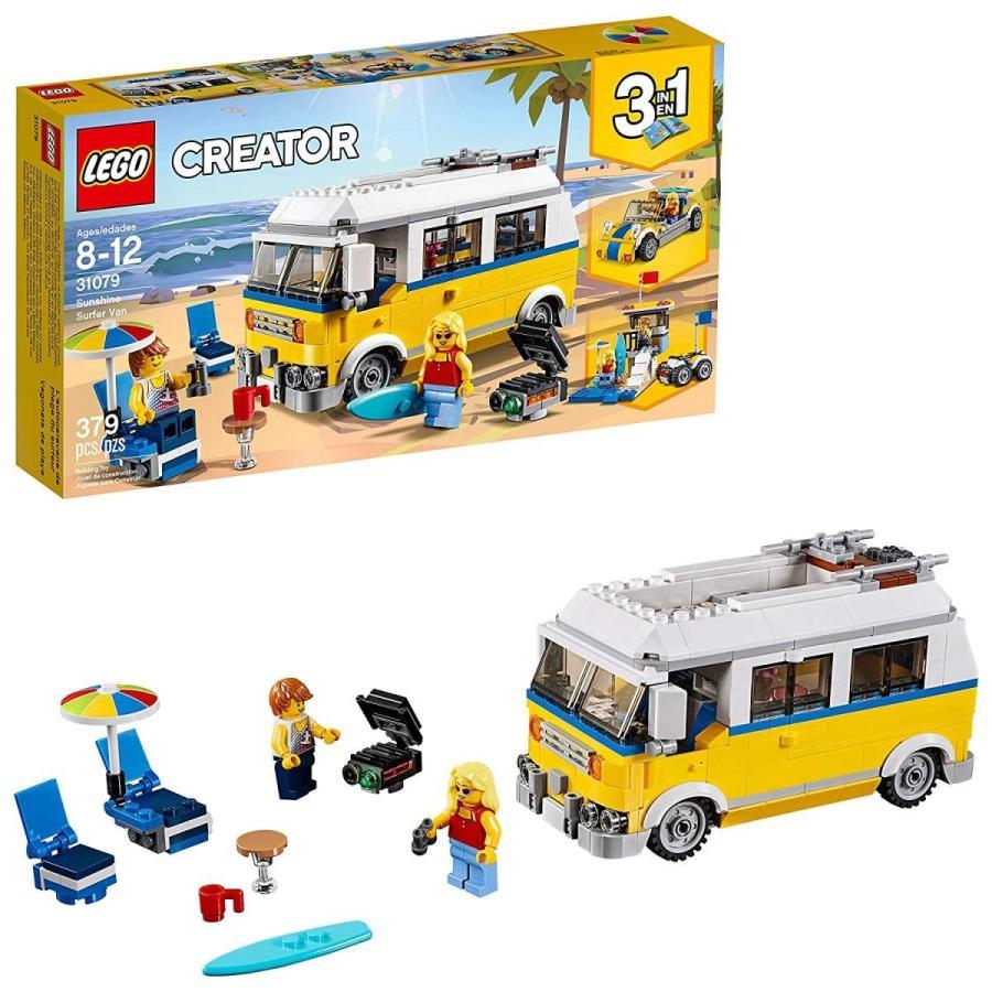 レゴLEGO Creator 3in1 Sunshine Surfer Van 31079 Building Kit (379 Pieces)