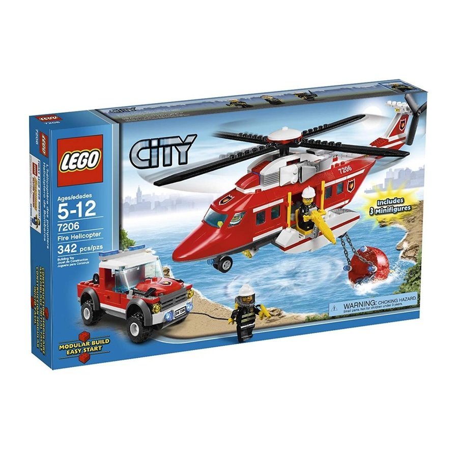 シティLEGO City Fire Helicopter (7206)