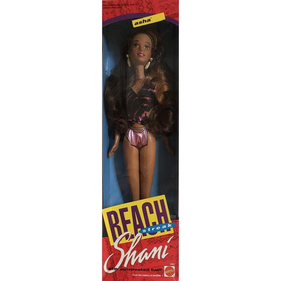 バービーBarbie Shani Beach Streak ASHA Doll AA has Sun Streaked Hair & Wears Shimmery 紫の Bathing Suit (1992)