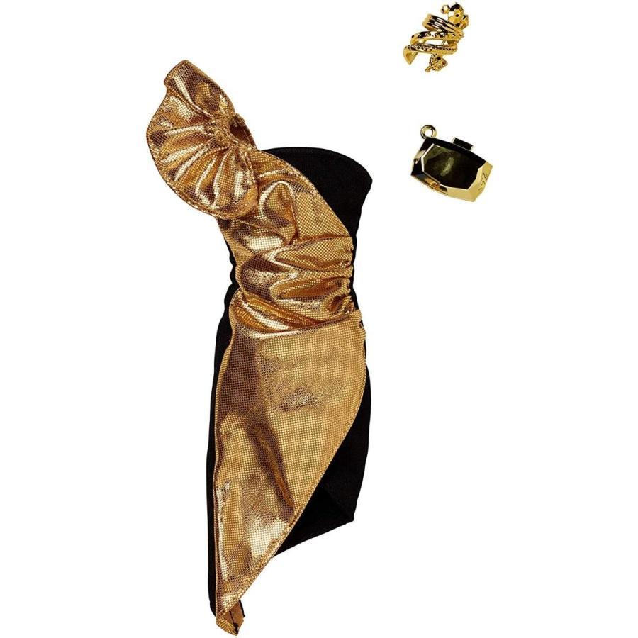 バービー人形Barbie Complete Looks ゴールド Metallic One Shoulder Dress Fashion
