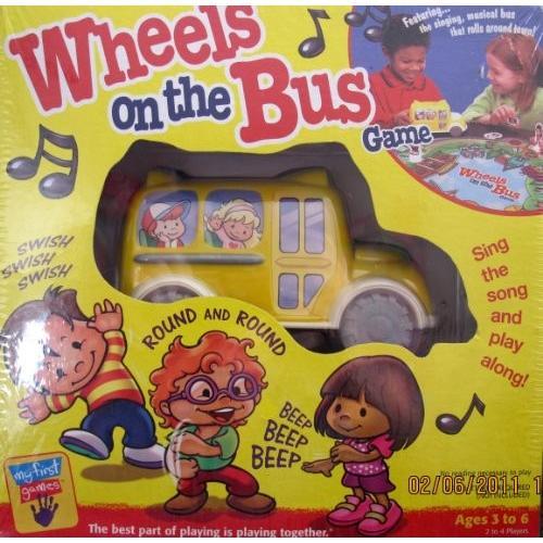 ボードゲームWheels on the Bus Game w Singing Musical Bus - Sing the Song & Play Along! (2000 Hasbro/Milton Bradley)
